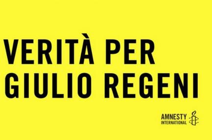Banner Verità per Giulio Regeni