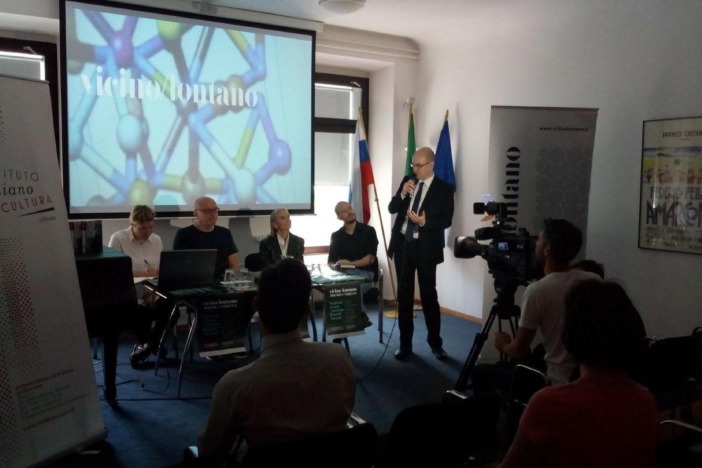 Presentazione del festival all'Istituto Italiano di Cultura a Lubiana