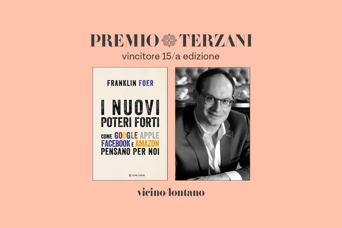 Franklin Foer vince il Premio Terzani 2019